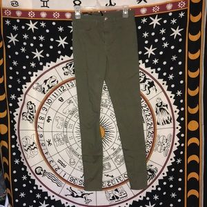 NWT H&M Army Green Skinny Jeans